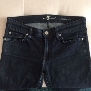 "7 For All Mankind Jeans - Dark ""Roxanne"" Skinny Jeans"